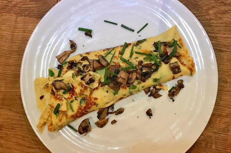 Pancake Day Plate Mushroom Food 52 Cookery School Old Street London Sainsburys Recipe Candice Brown Great British Bake Off Winner