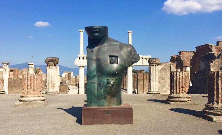 Italy Naples Pompeii Ruins Statue Sorrento Amalfi Positano Coast Mediterranean Sea Ocean Coastline Holiday Travel