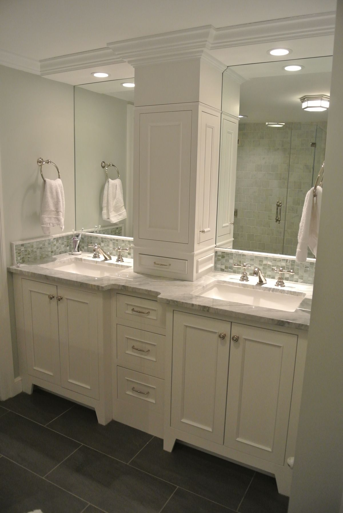 kitchen cabinets with legs two level island ikea bathroom vanities: a linen closet on the countertop