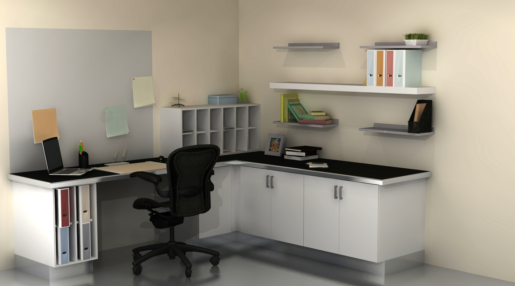 Useful spaces: a home office with IKEA cabinets