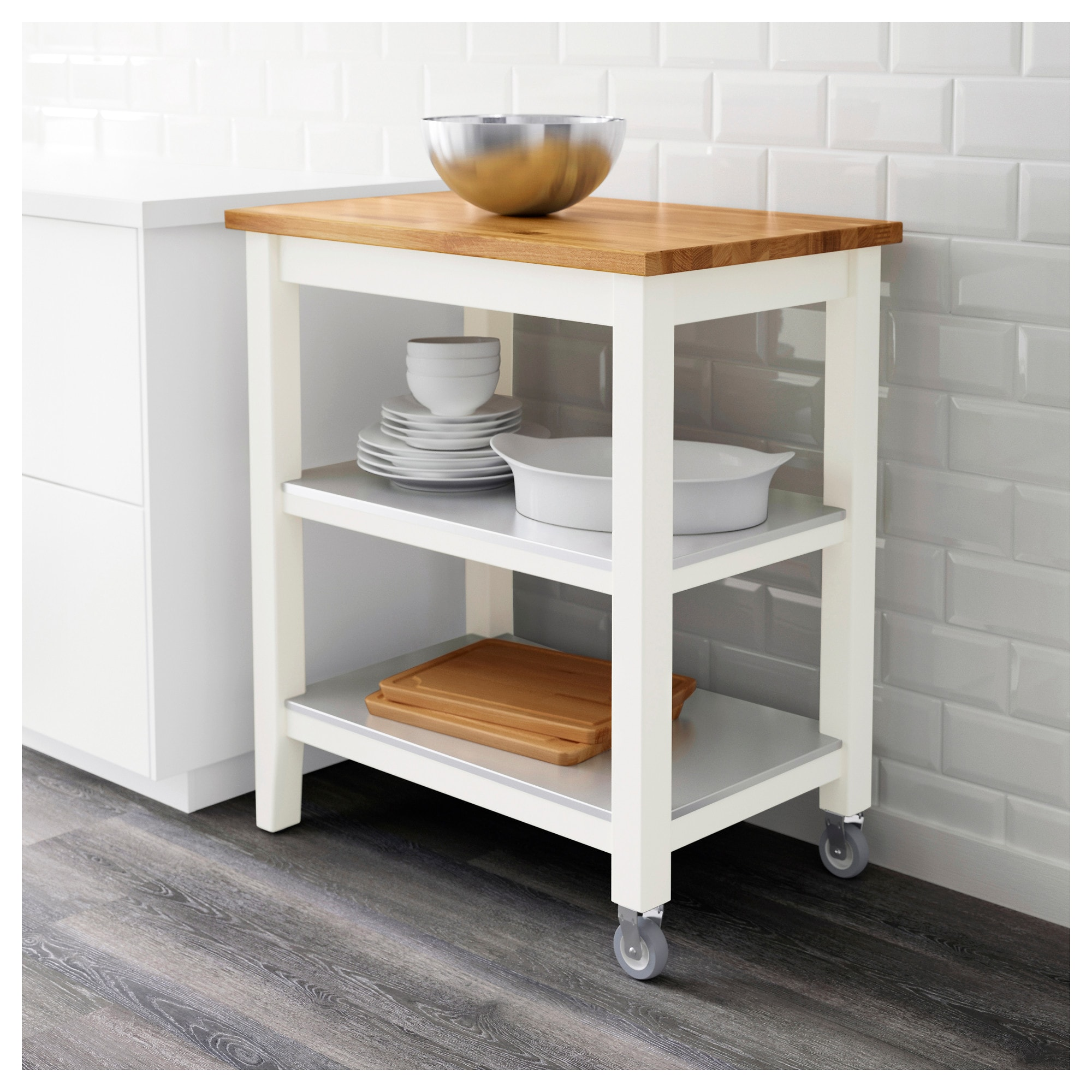 IKEA Kitchen Carts Featuring the STENSTORP Kitchen Cart
