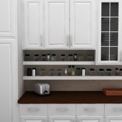 Under Cabinet Shelving Kitchen Rustic Island Simple Open Spice Storage