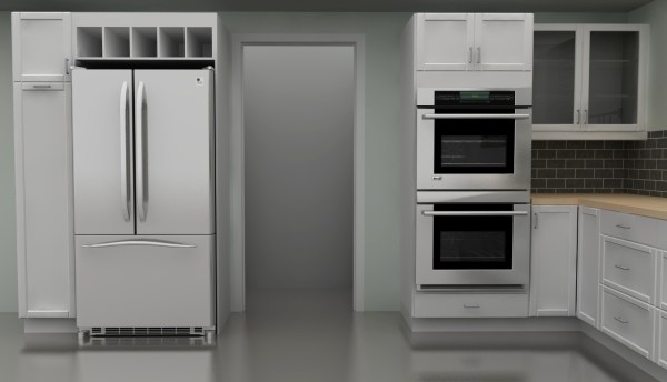 Double Wall Oven Kitchen Cabinet