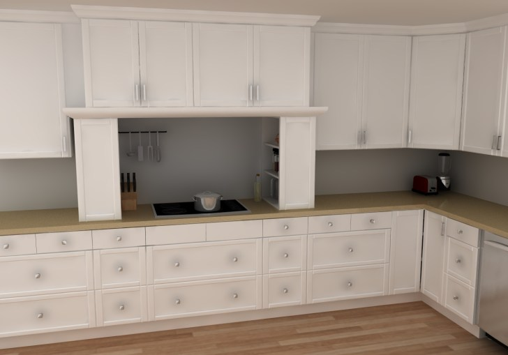 Garage Style Kitchen Cabinets