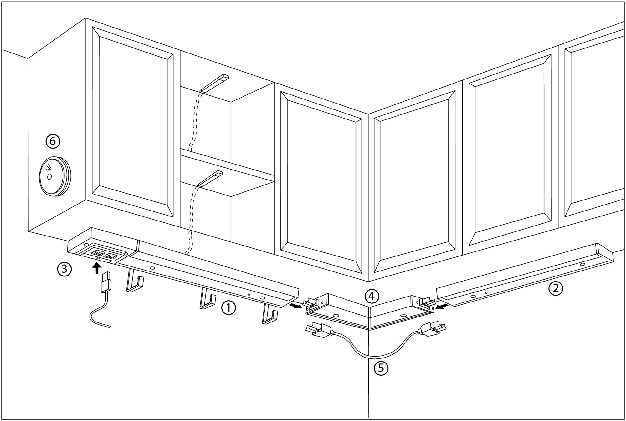 hight resolution of so you ll create a circuit track of countertop overhead in cabinet and drawer lighting what makes omlopp unique is that it