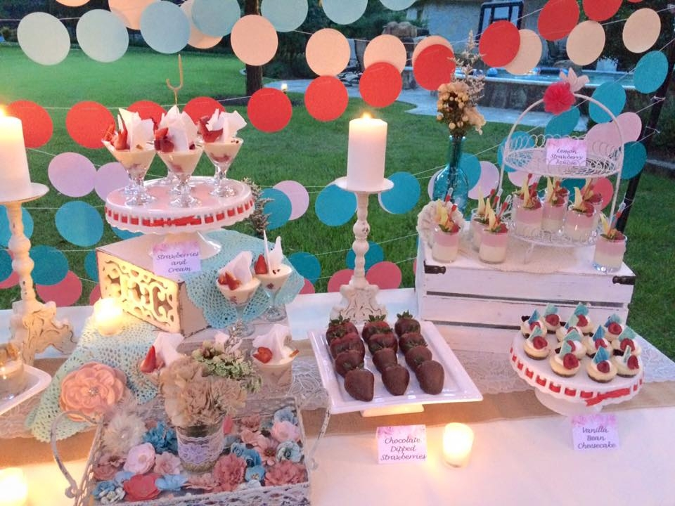 Blue and Coral 15th Birthday Party