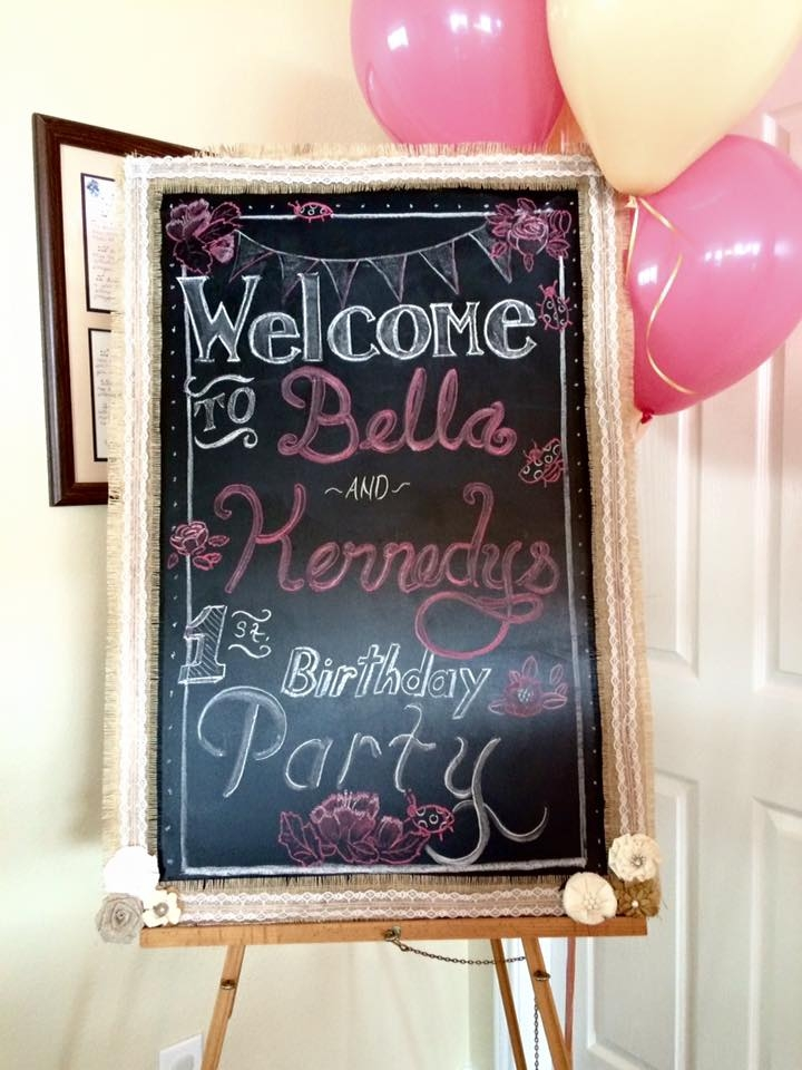 Shabby Chic Twin's First Birthday Party