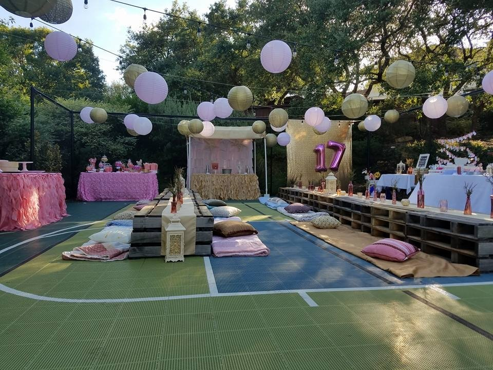 Pink and Gold 17th Birthday Party