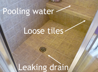 help with a leaking tile shower