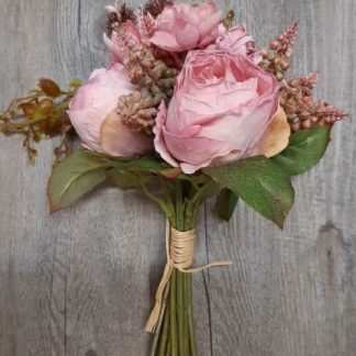 dried pink bouquet