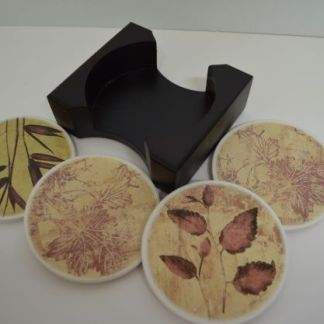 Natural round coasters