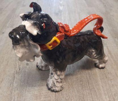 grey terrier teapot