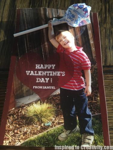 Valentine's Photo Candy Card