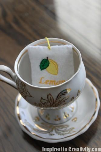Felt Food Lemon Tea Bag