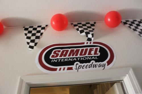 Race Car Speedway Birthday Banner