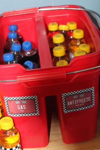 Racing Themed Drinks - Gas & Antifreeze