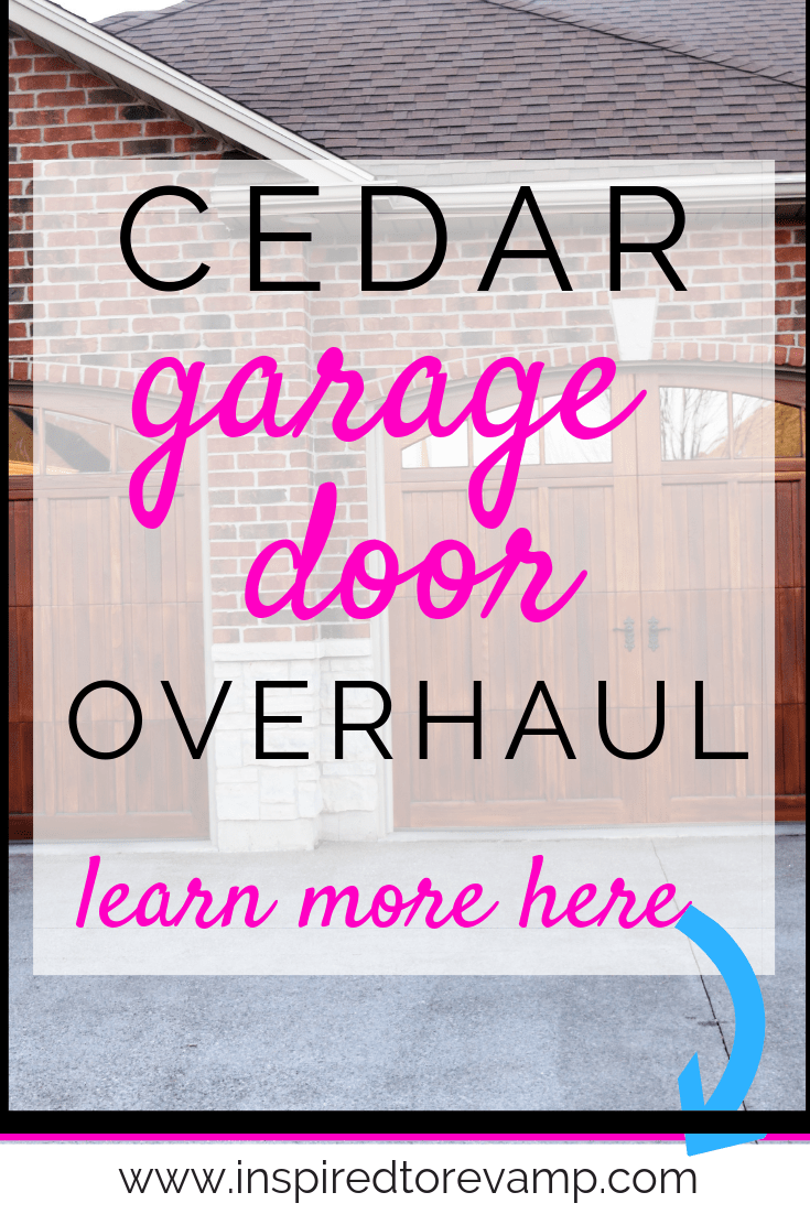 Our Cedar Garage Door Overhaul Inspired To Revamp