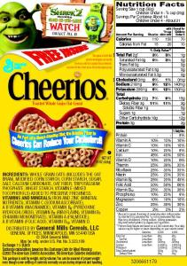 Cheerios nutrition facts and ingredients