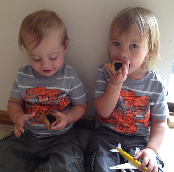 Boys excited for healthy, yummy hamantaschen