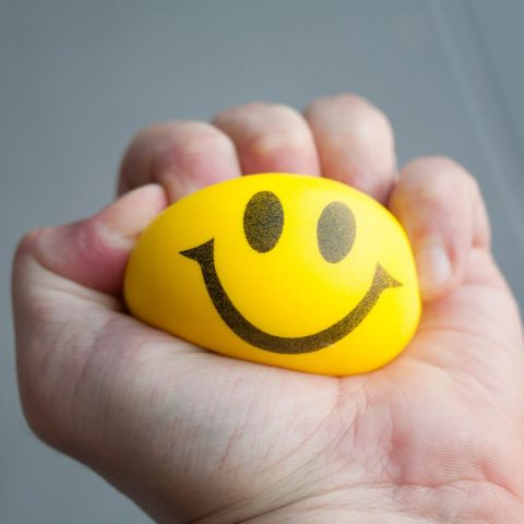 Happy face squeeze toy