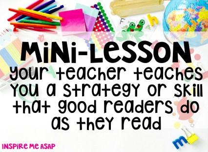 reading workshop - mini lesson