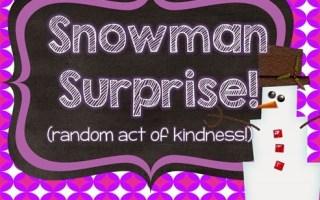 Snowman Surprise Freebie