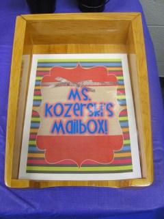 organization of teacher's supplies