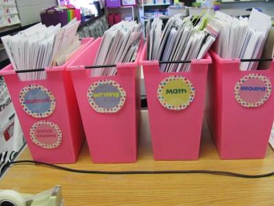organization of teaching supplies