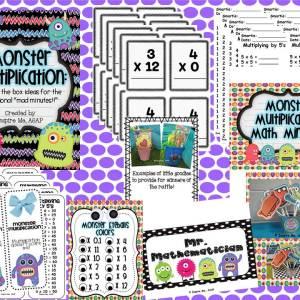 Monster Multiplication Math Fact Practice