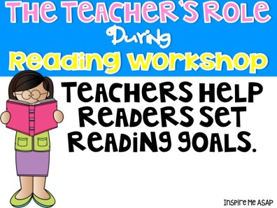 In this blog post, I write about the teacher's role during reading workshop.