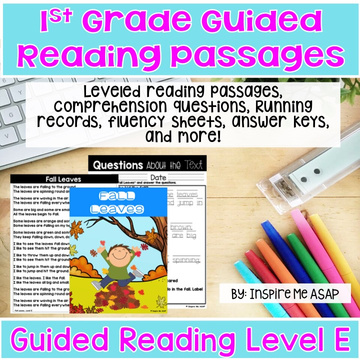 Level E Guided Reading Passages For First Grade - Inspire Me ASAP