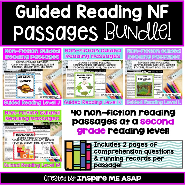 Guided Reading Non-Fiction Passages For Second Grade - Inspire Me ASAP
