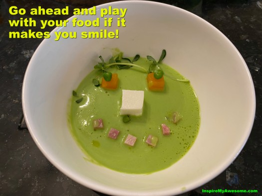 Go ahead and play with your food if it makes you smile.