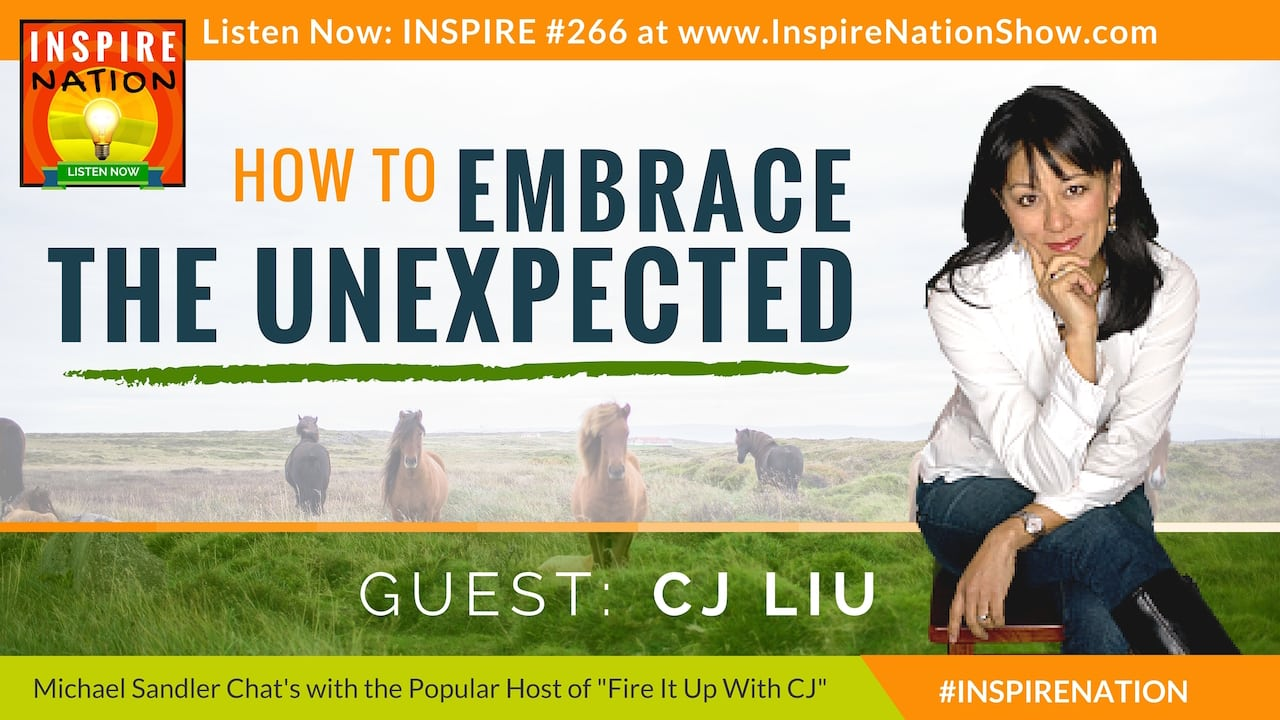 Listen to Michael Sandler's interview with CJ Liu on Embracing the Unexpected!