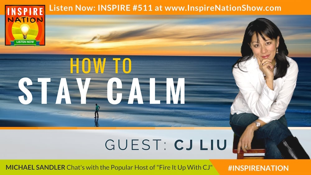 Michael Sandler and CJ Liu have a heart to heart on how to stay calm during stressful times.