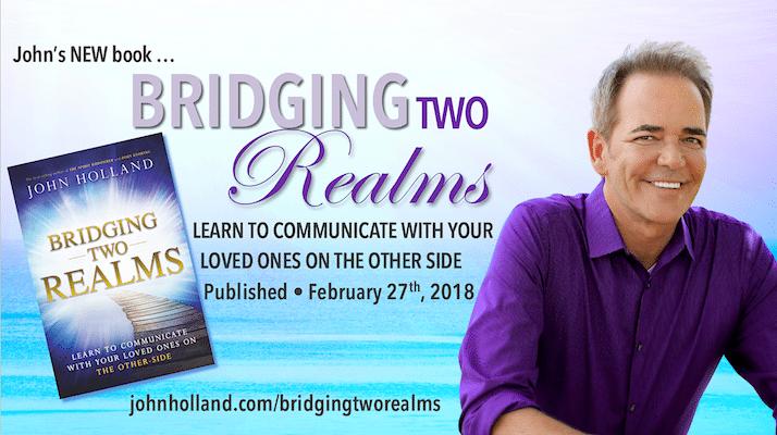Introducing popular psychic medium, John Holland's newest book,