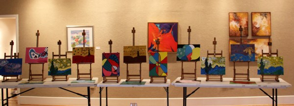 Art Exhibition August Kids Easels