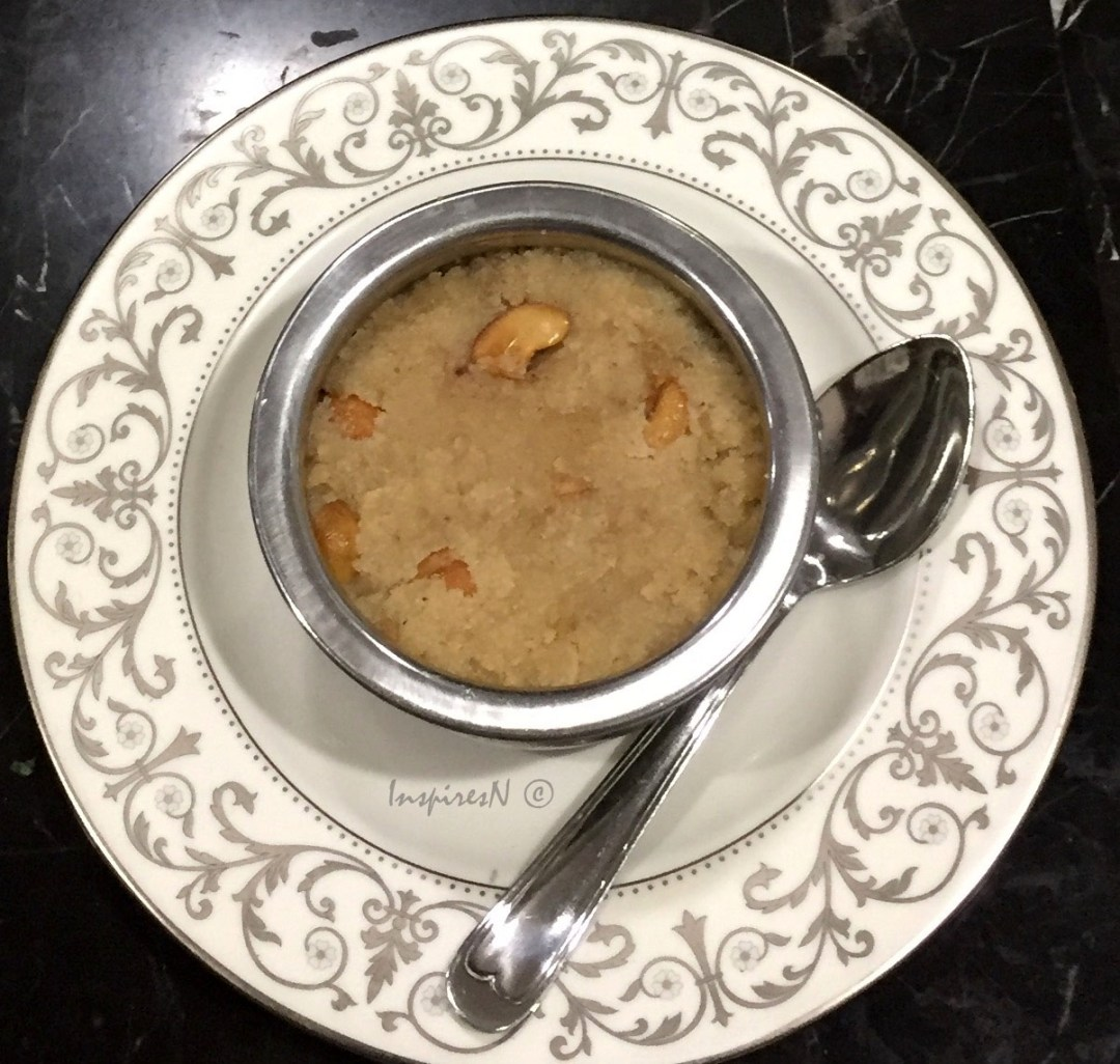 Suji Halwa (cream of wheat) pudding or rava kesari