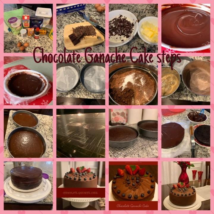 Chocolate ganache cake prepartion