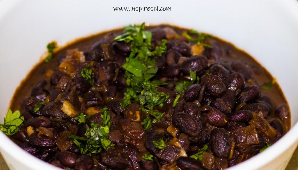 Delicious black beans