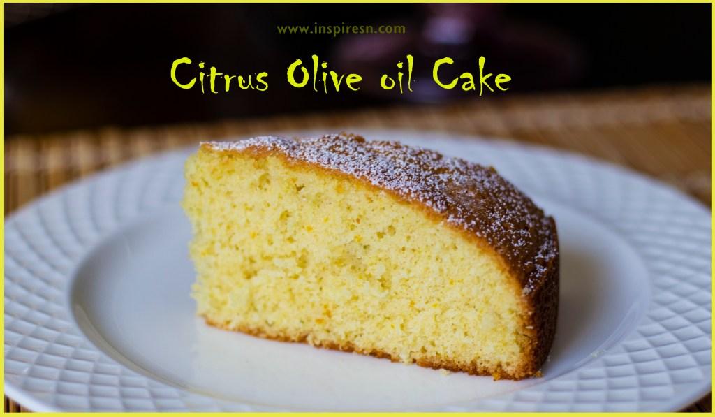 Citrus Olive Oil Cake slice