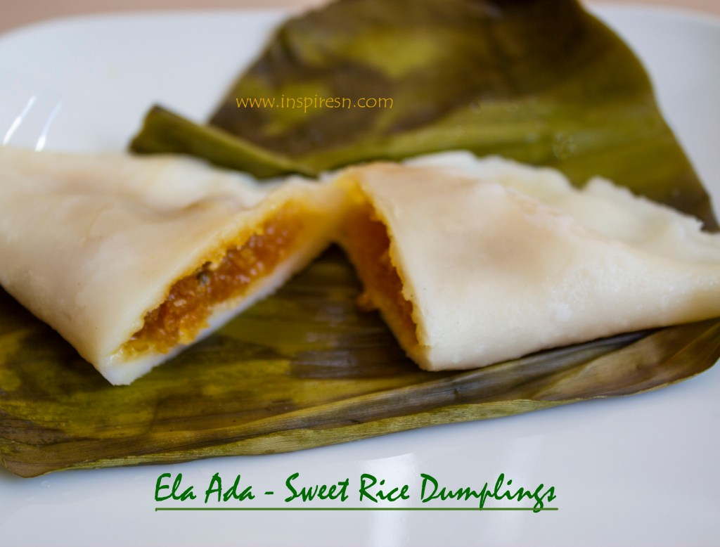 Ela Ada - Steamed Rice Dumplings with coconut and jaggery