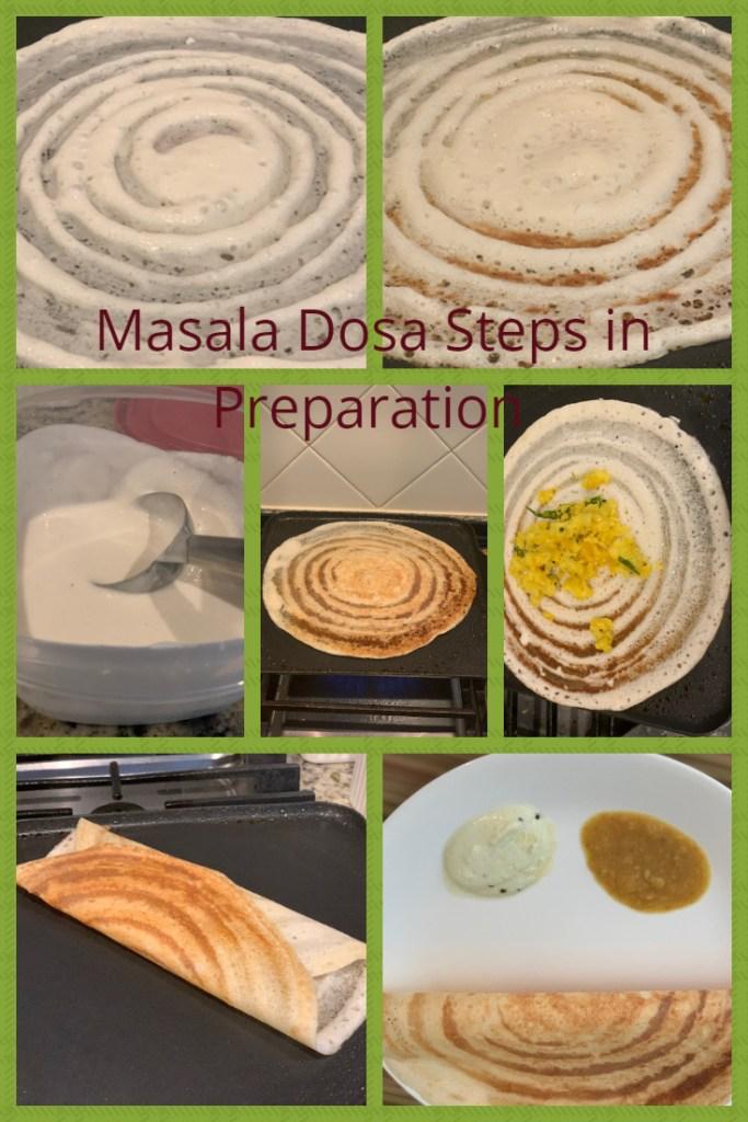 Masala Dosa Preparation steps