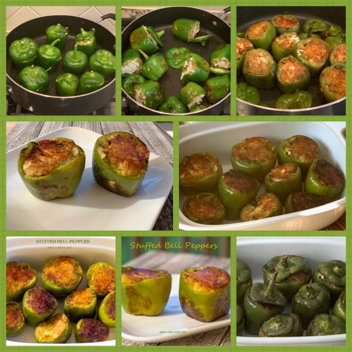 Stuffed bell pepper  cooking steps