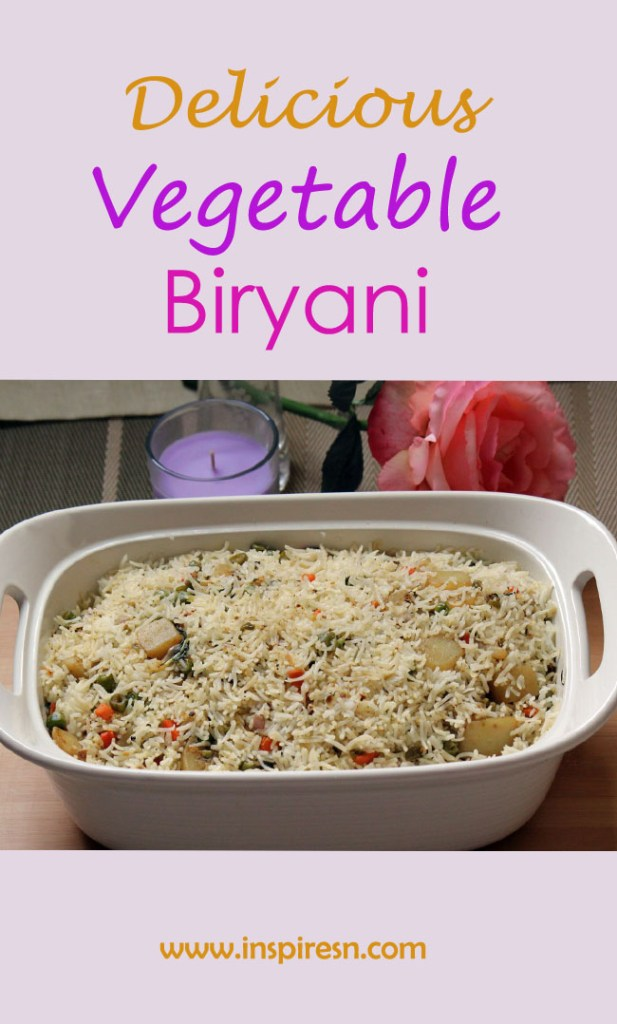 Vegetable Biryani layered