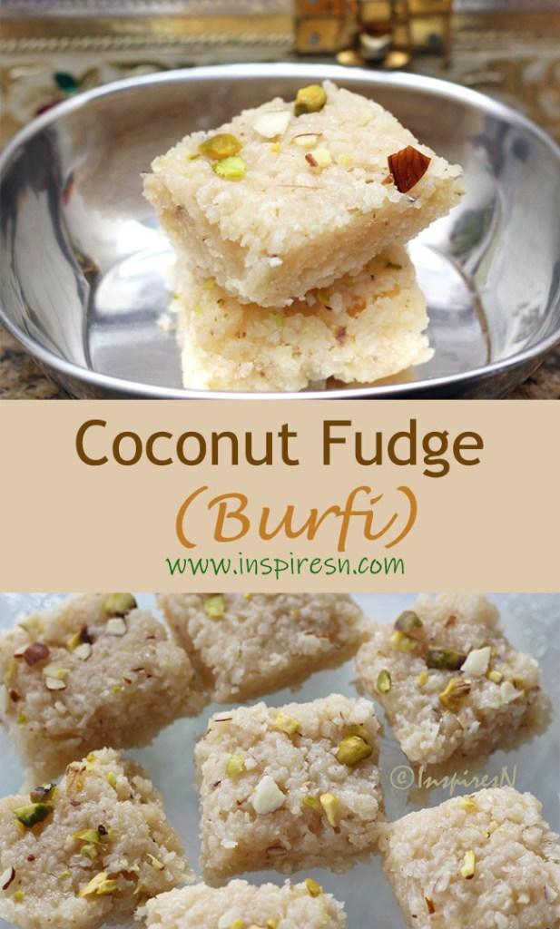 Coconut Fudge (Burfi)