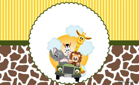 Safari Kit festa grátis para imprimir