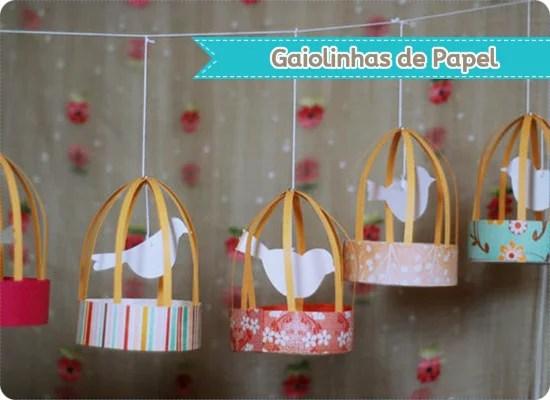 Como fazer Gaiolinhas de papel – Passo a passo