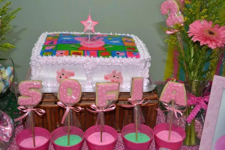 Decorao Peppa Pig  Sofia 2 anos  Inspire sua Festa