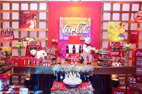 Decoração Coca Cola by Comemorando Festas e eventos